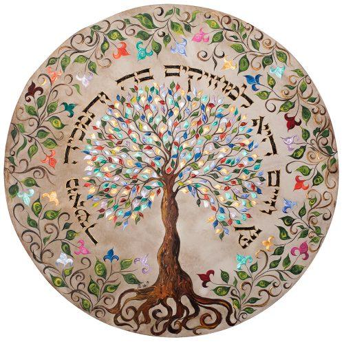 תופים של לאה טל - תוף עץ חיים צבעוני