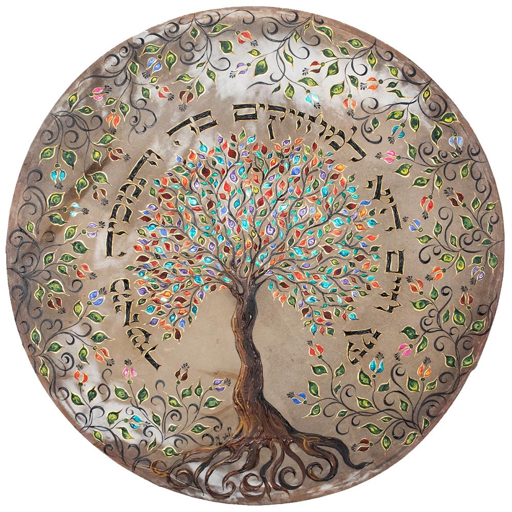תופים של לאה טל - תוף עץ חיים זהב